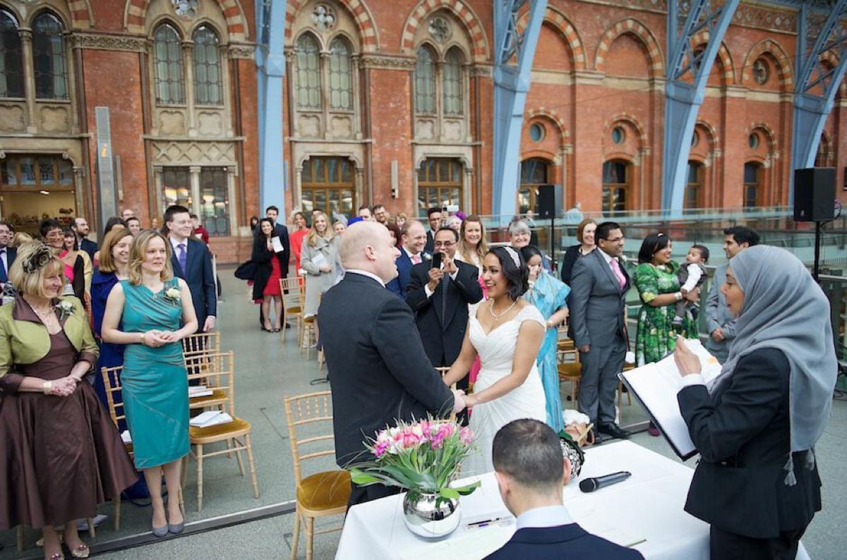 St Pancras Station Wedding Photography