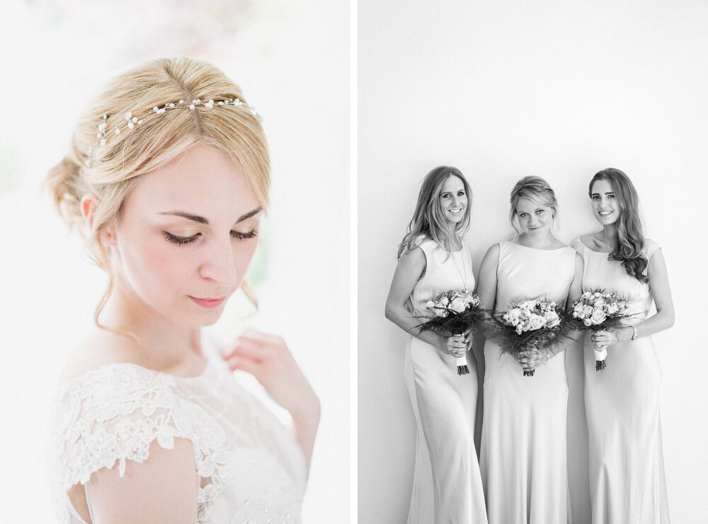 the bride and bridesmaids portraits