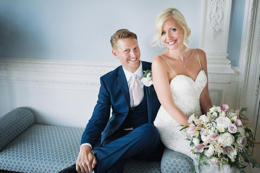 a wedding portrait at Frensham Heights Surrey
