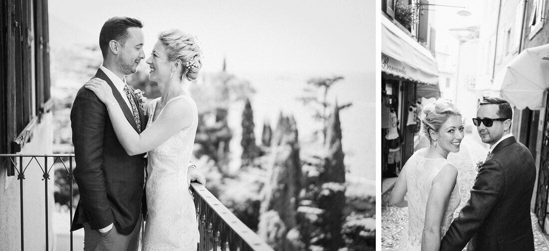 wedding photos at Malcesine Castle Italy