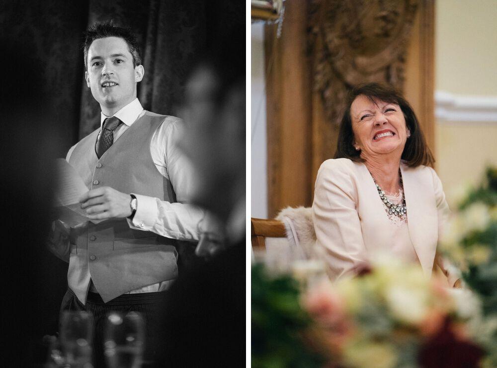 wedding speech at Farnham Castle Surrey