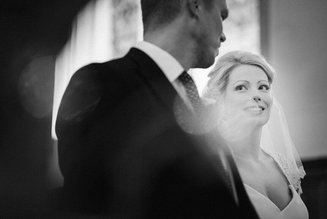 a look between bride and groom
