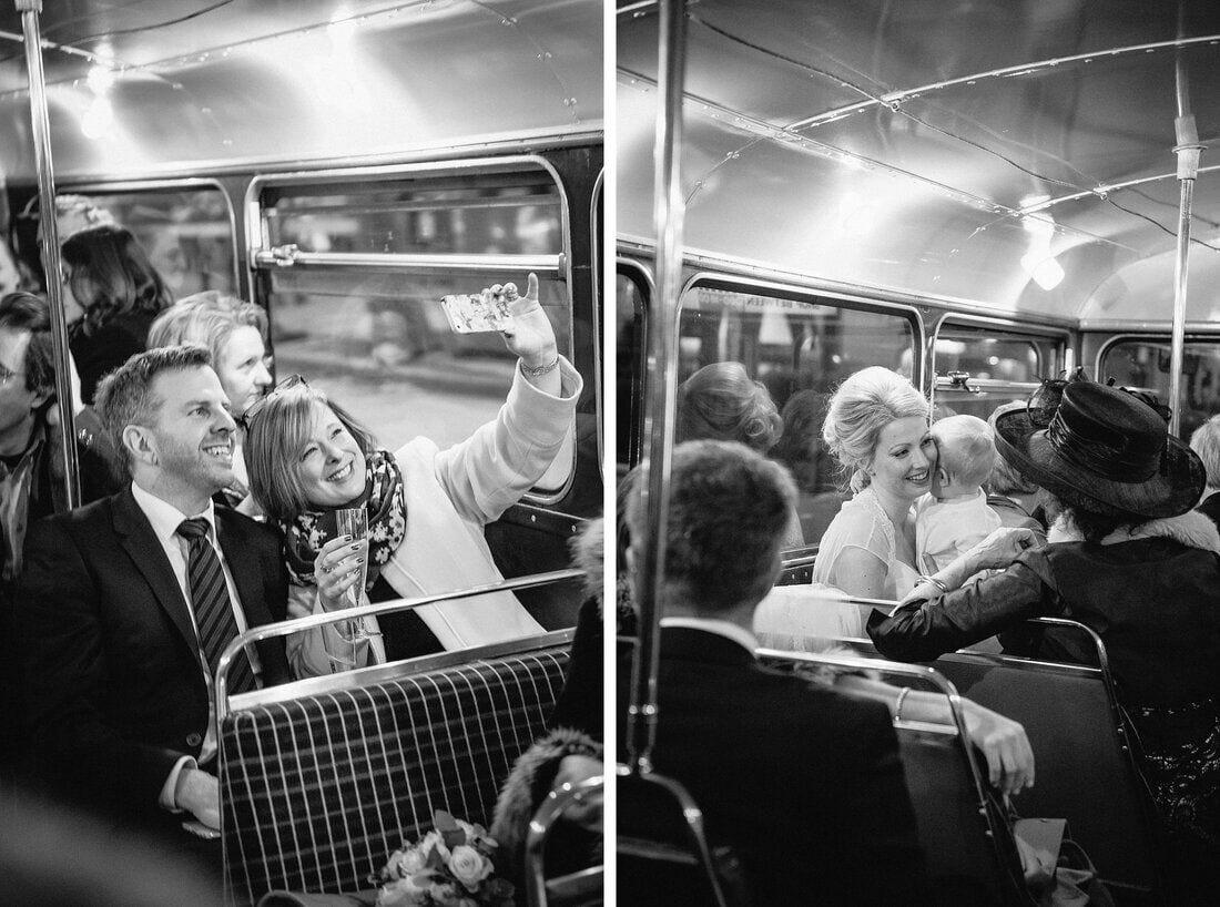 the wedding bus ride