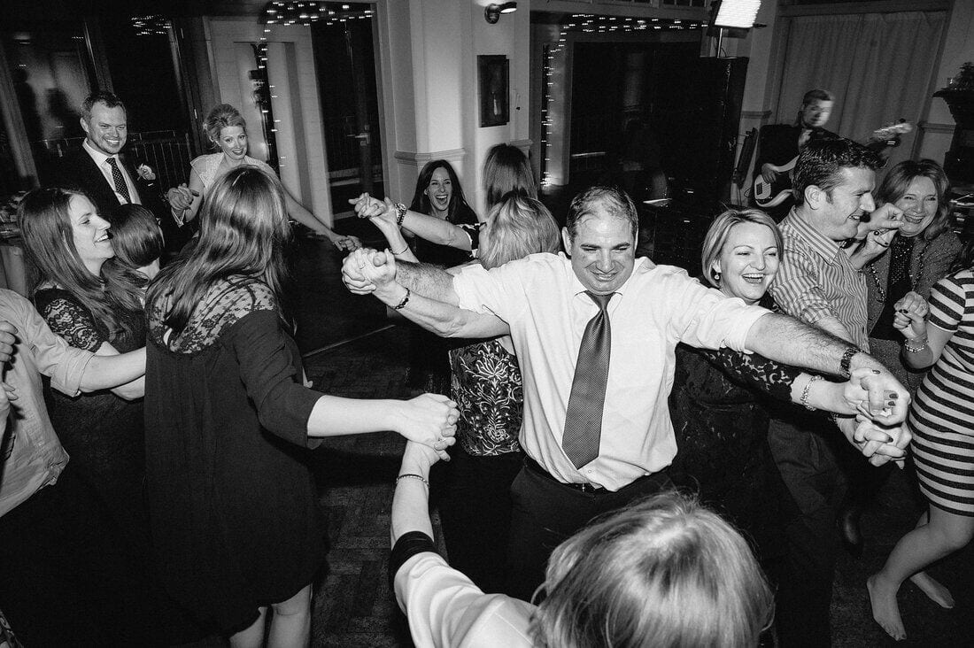 dance floor mayhem on the wedding