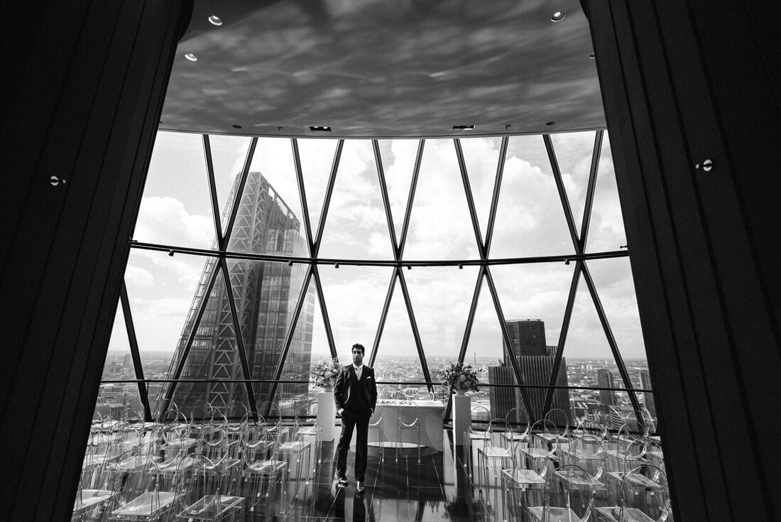 wedding photography at the gherkin
