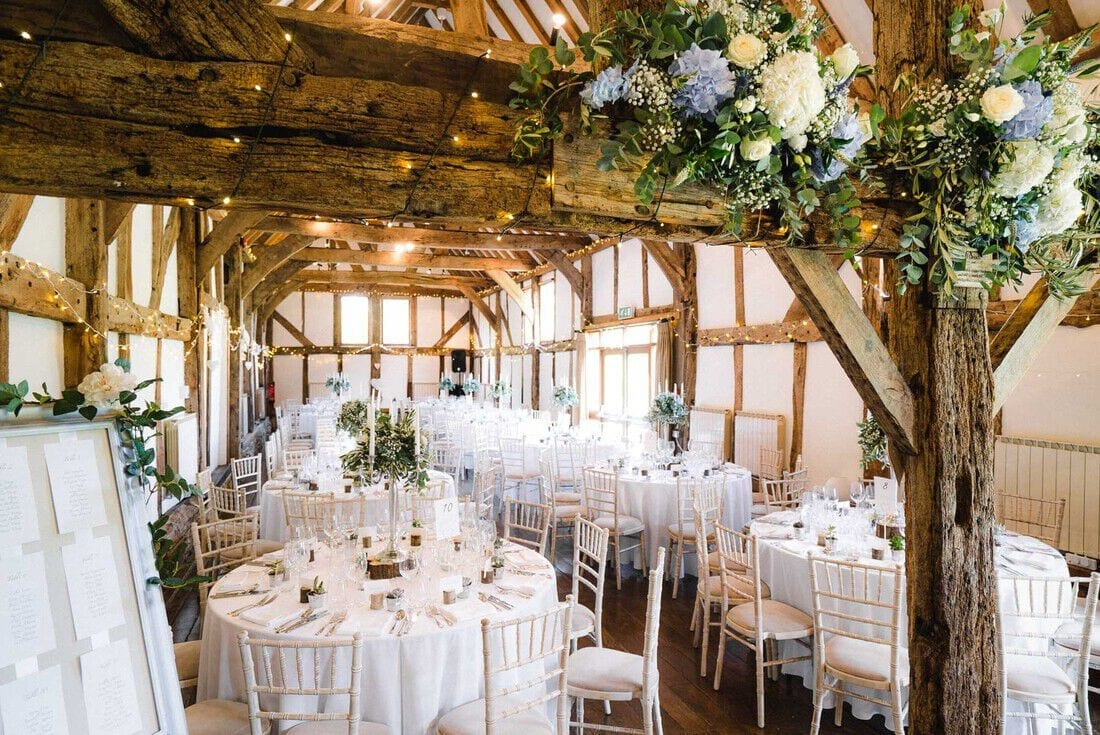 the wedding barn at Loseley Park Guildford
