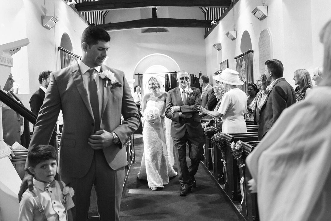 St Martha's Church Wedding Photography Guildford