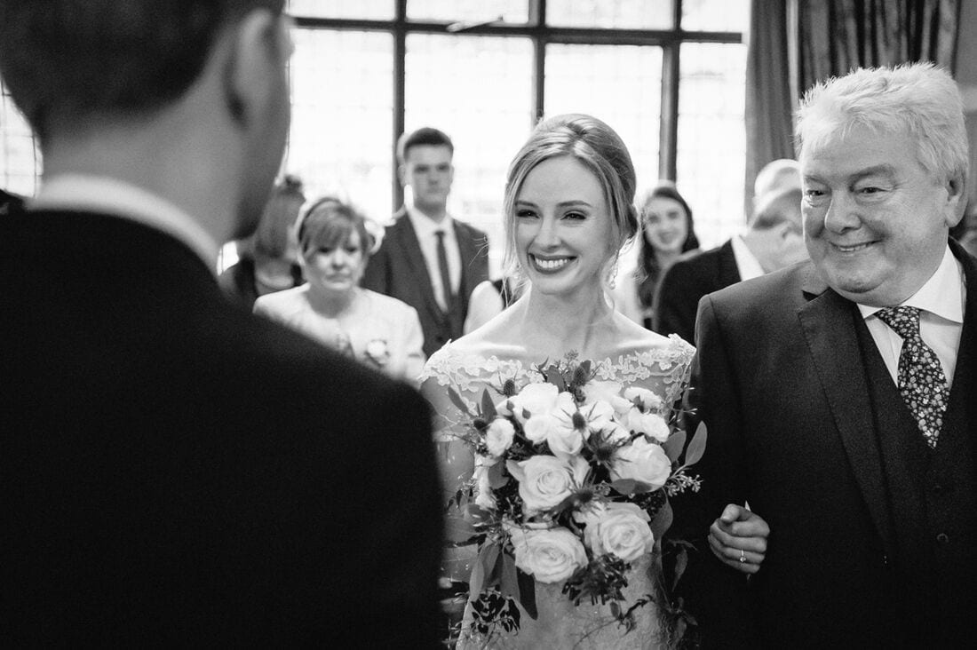 winter wedding at Ramster Hall