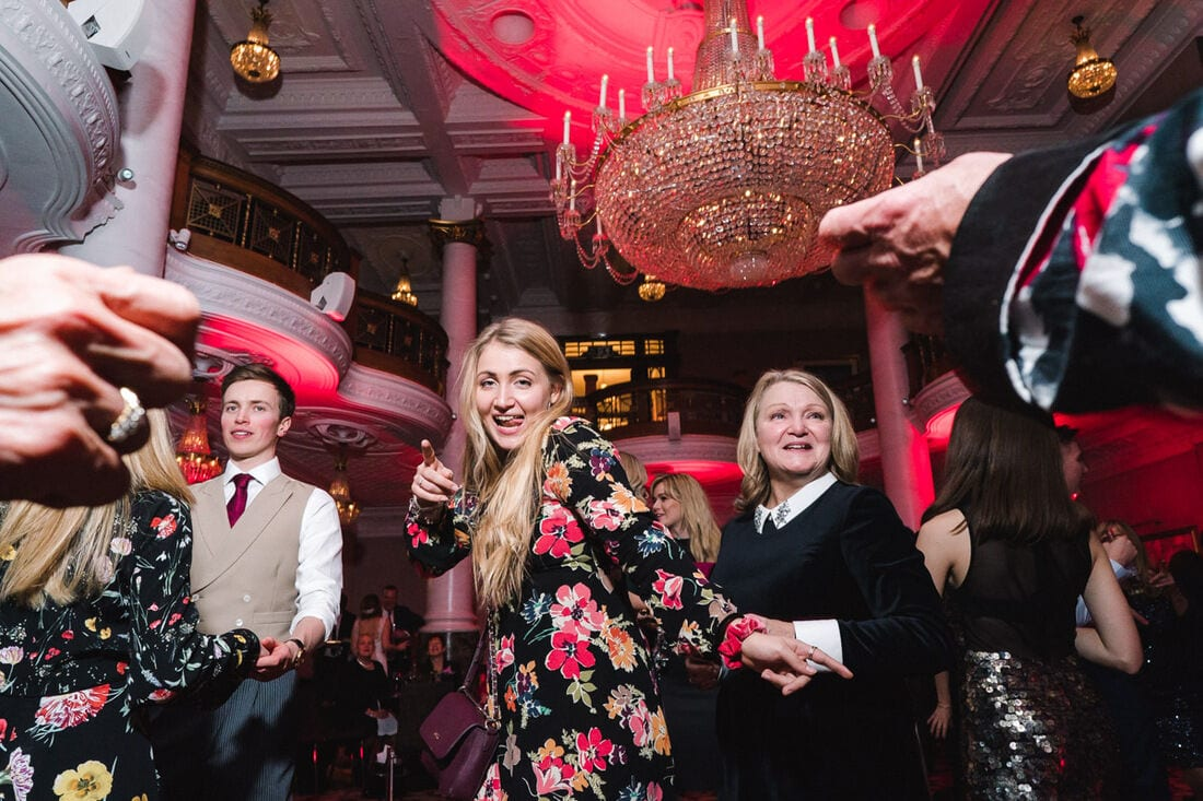 guests get the party going at St Ermin's Hotel