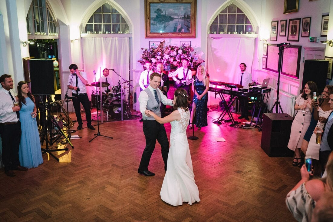 the first dance at the wedding reception in Putney