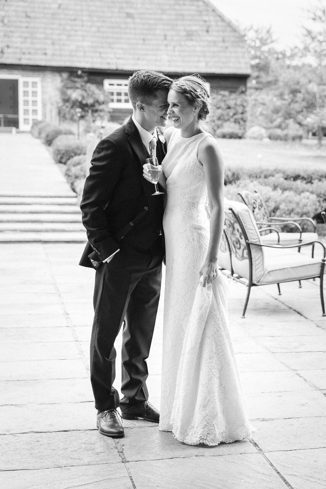 bride and groom have a moment to themselves