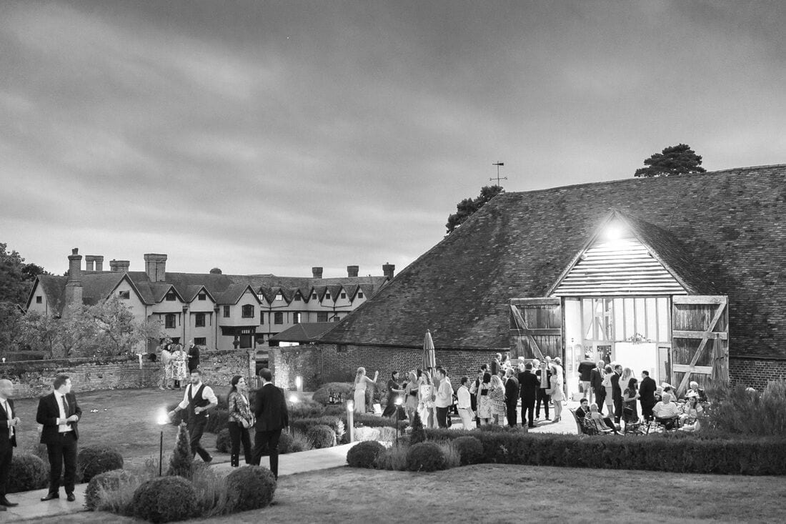 ufton court wedding venue at night Reading Berkshire