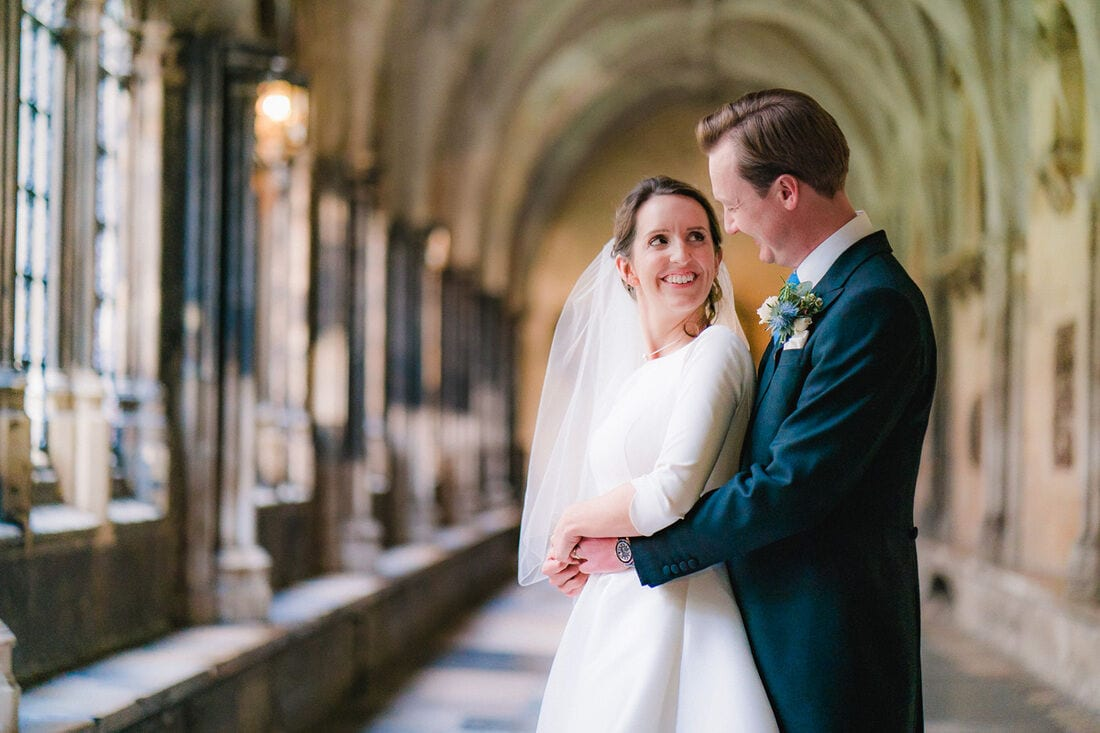 a wedding portrait at westminster school