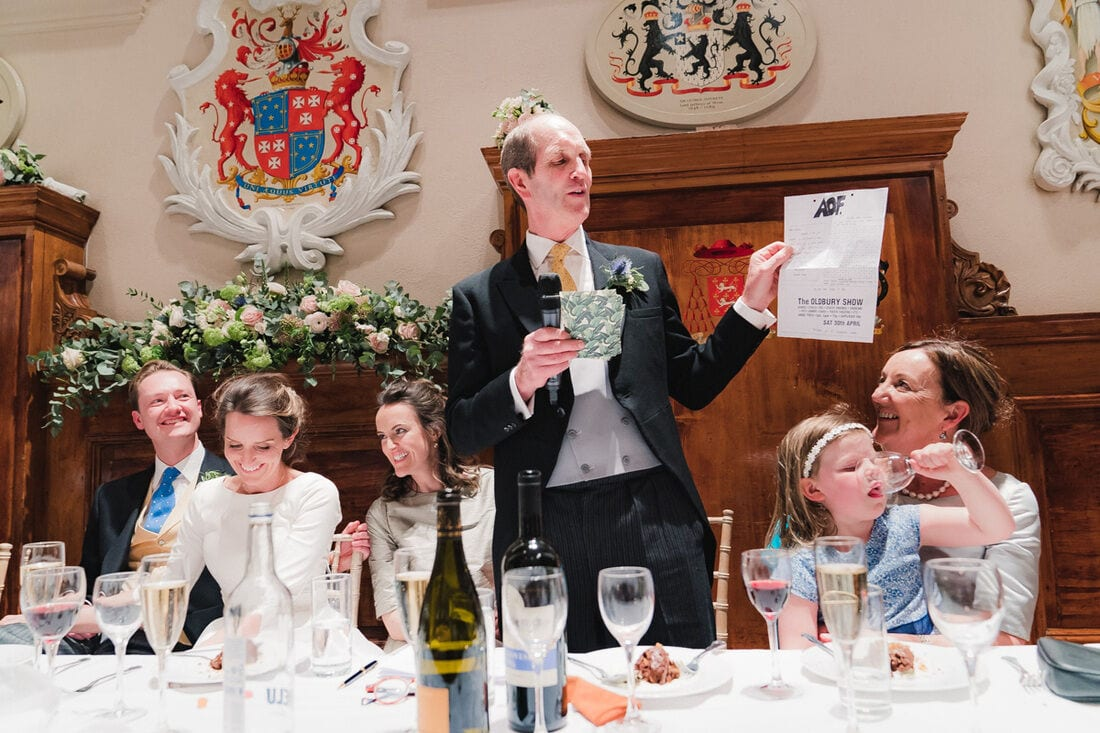 the embarrassing father of the bride speech