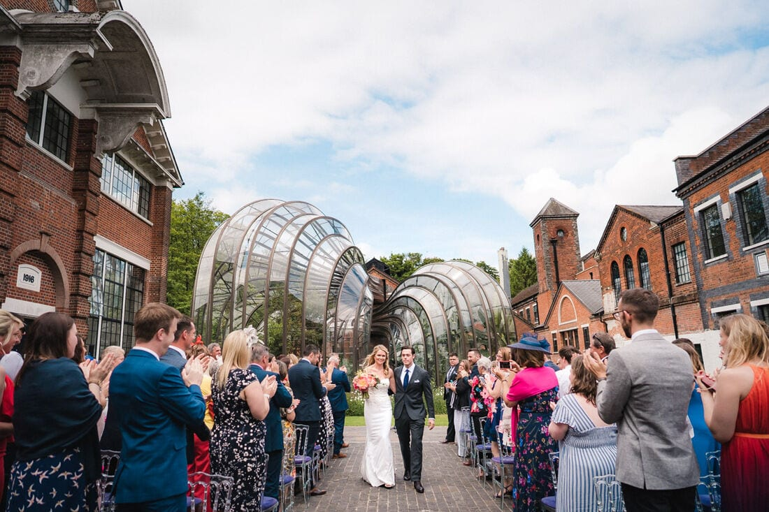 husband and wife marry at Bombay Sapphire