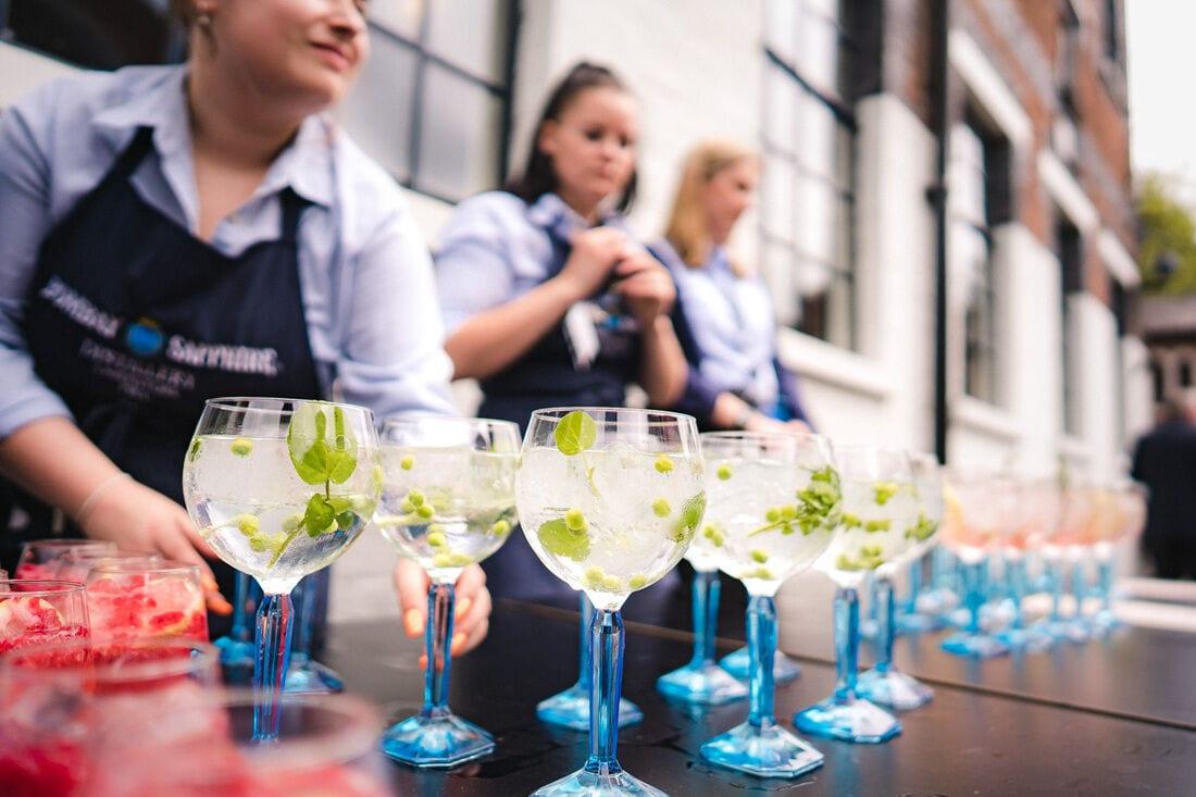 bombay gin distillery wedding cocktails