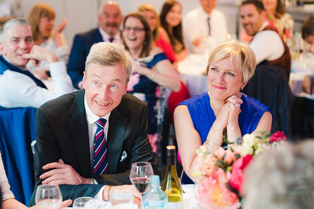 proud mum and dad of the groom