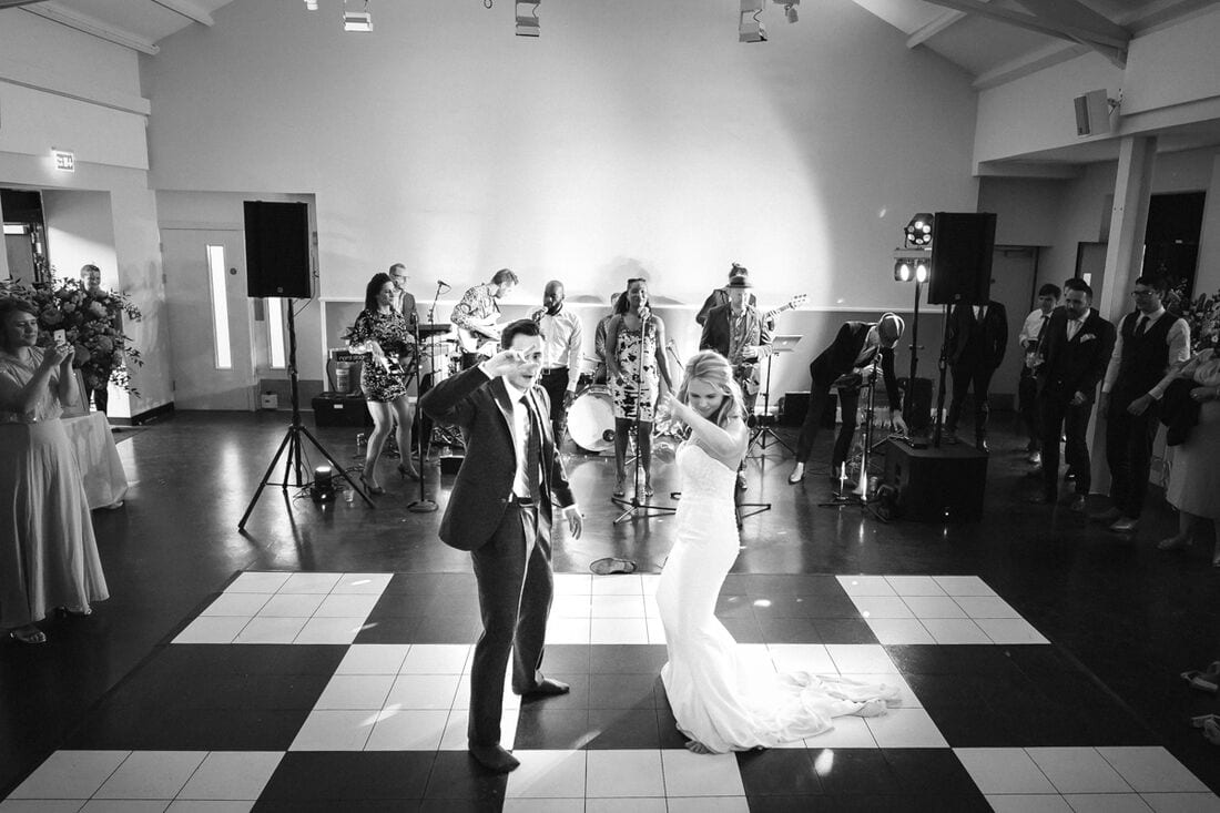 first dance at Bombay Sapphire Distillery