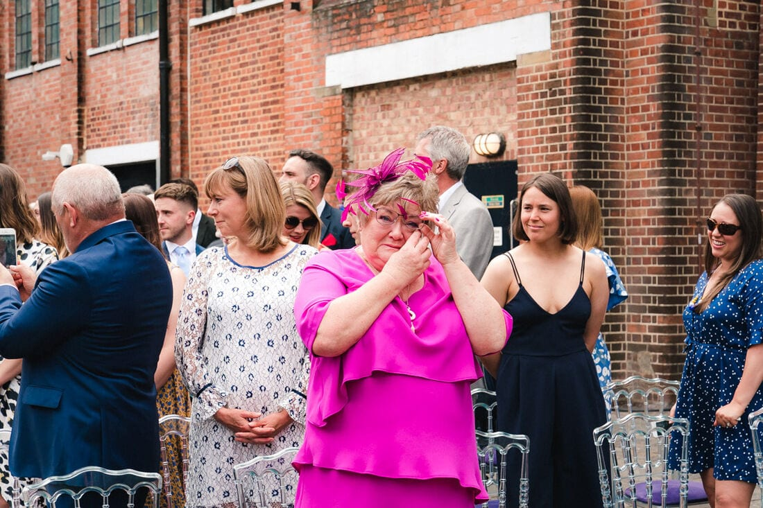 an emotional mother of the bride