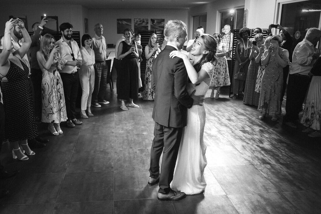 first dance at destination wedding on lake garda