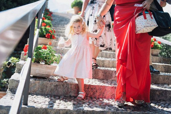 a little wedding guest in italy