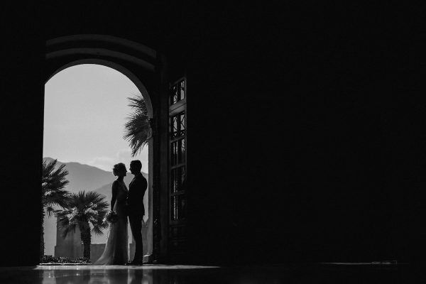 a wedding portrait in lake garda