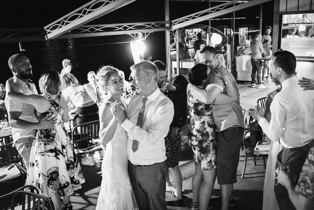 father daughter dance at her italy wedding