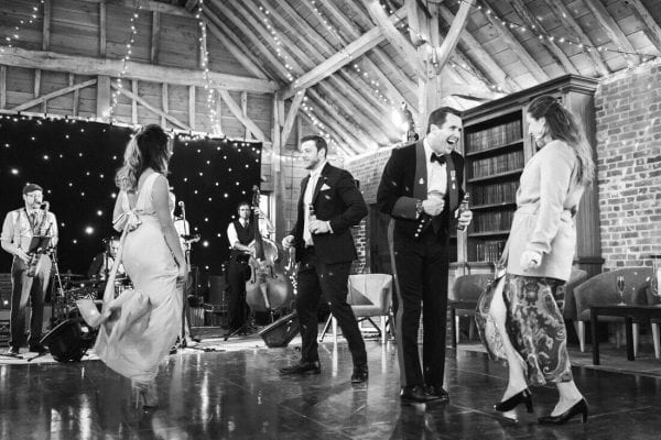 dancing guests at the long barn in Hampshire
