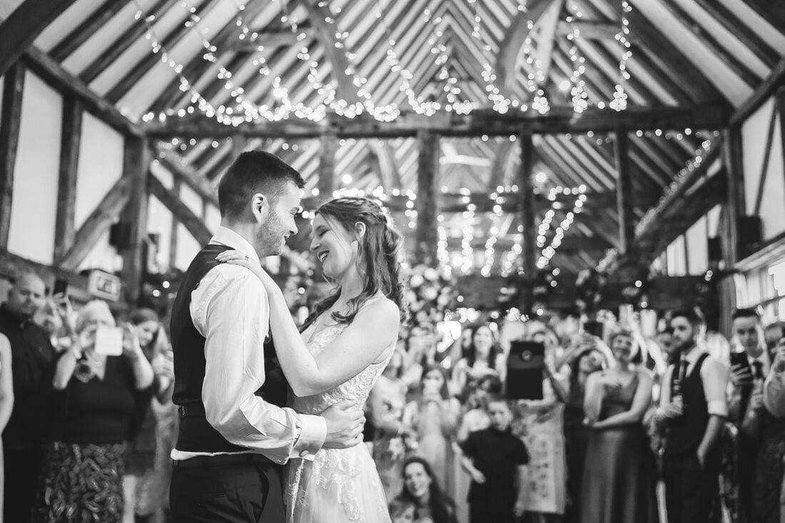 first dance as a married couple at Loseley Park