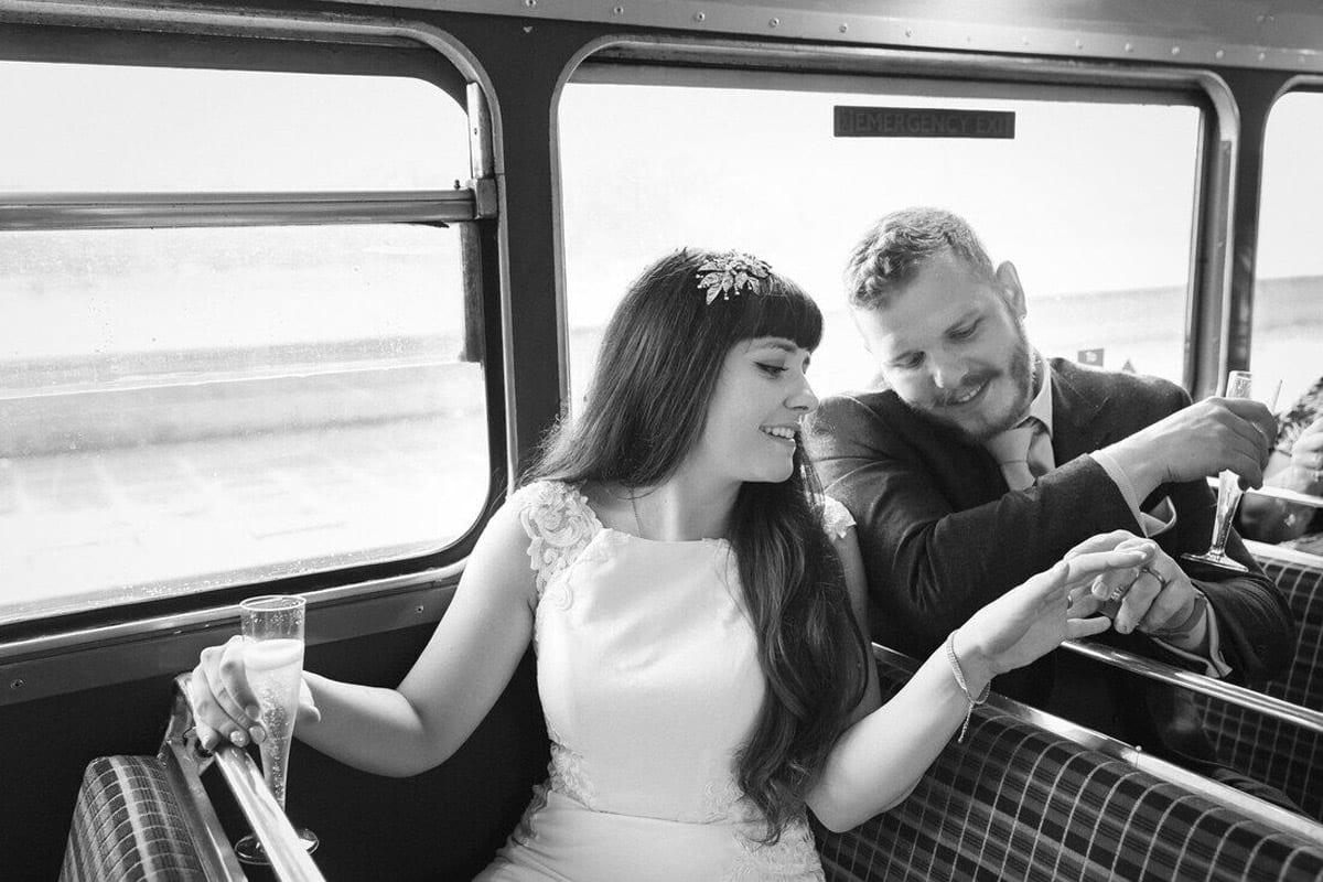 wedding bus routemaster london