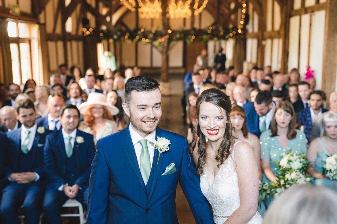 wedding ceremony tithe barn loseley