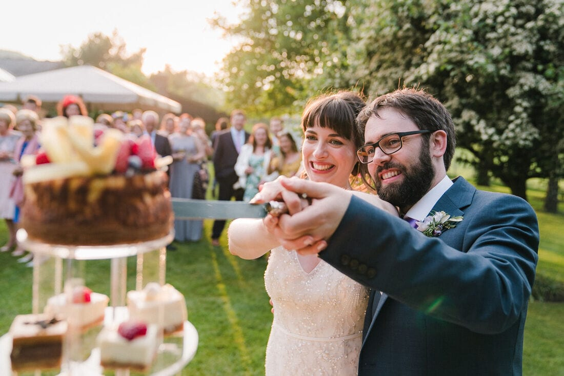 gate street barn outdoor wedding ceremony