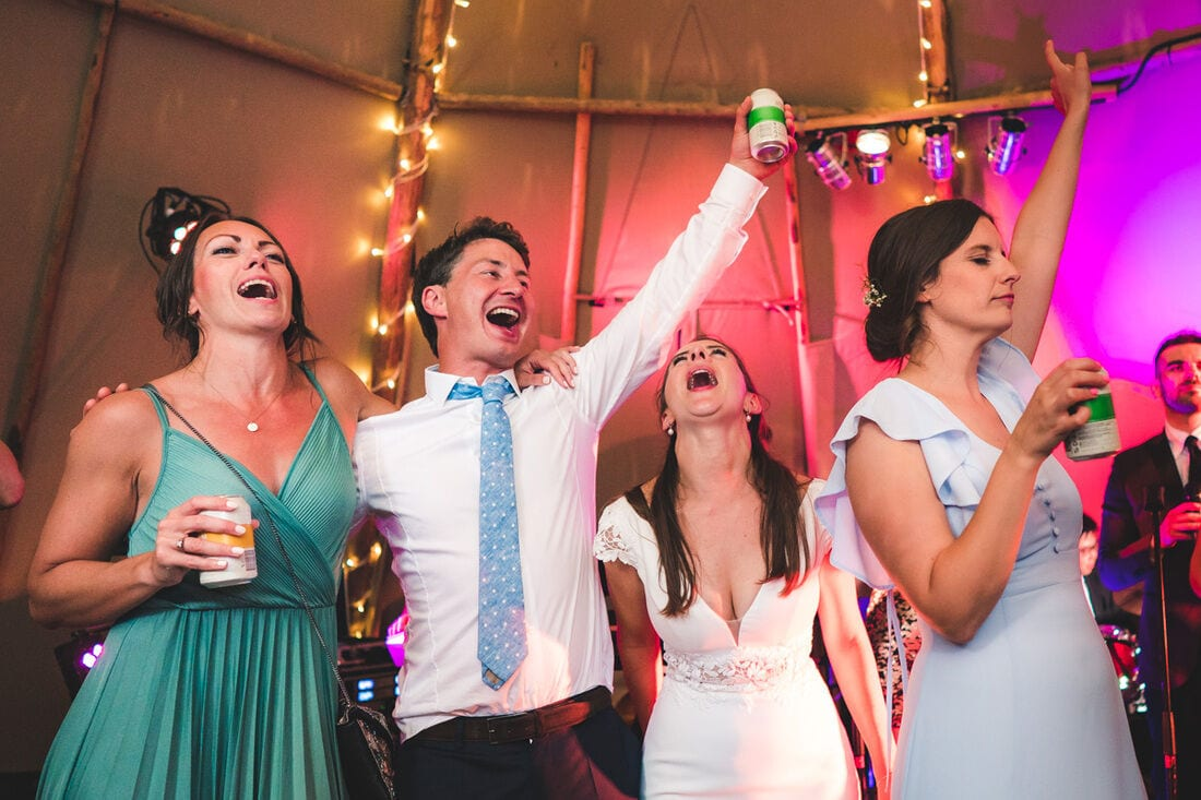 tipi wedding reception in surrey