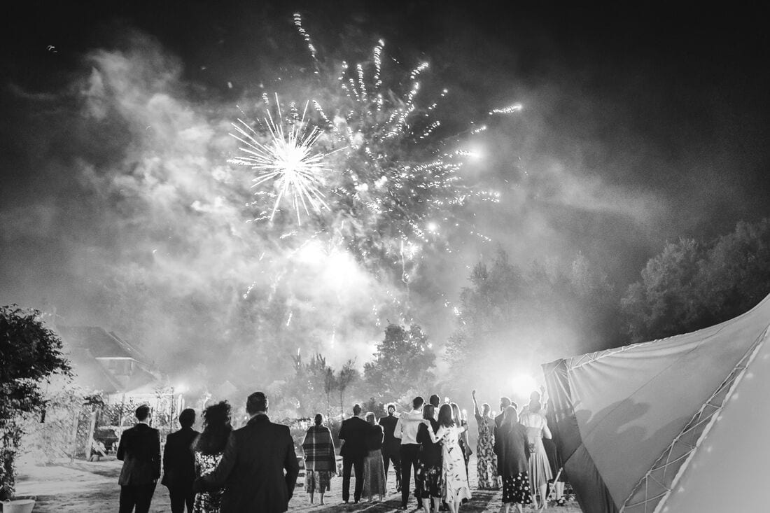 surrey fireworks for weddings