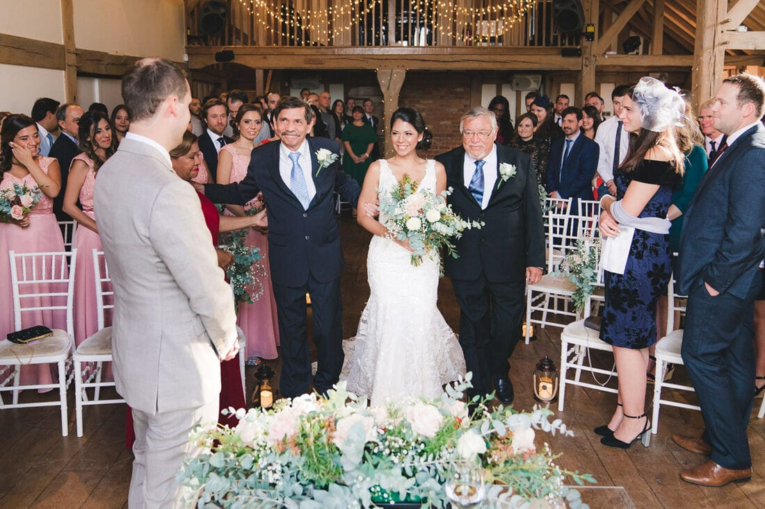 wedding ceremony at Cain Manor