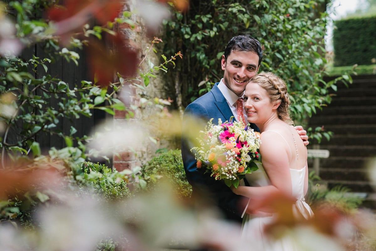 wedding portrait of husband and wife