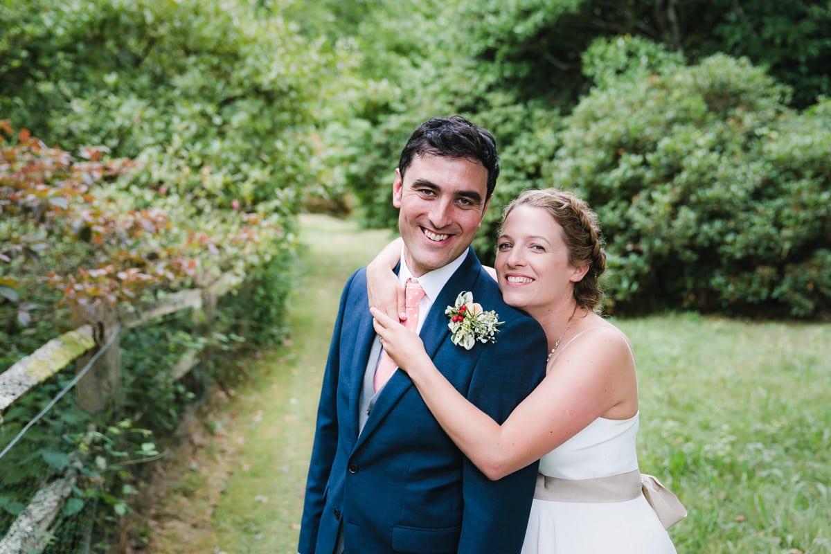 newlyweds photographed at Ramster Hall in Surrey
