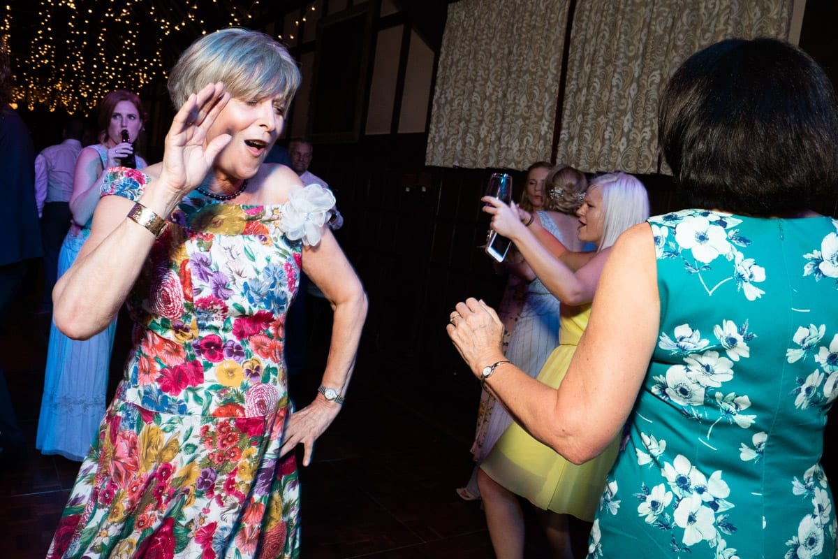 wedding videography on the dance floor in Surrey