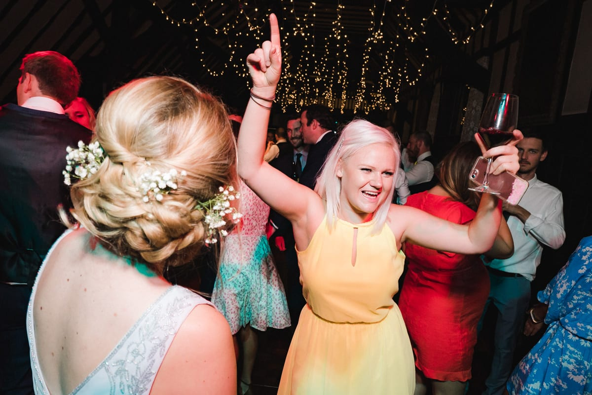 partying at the end of an amazing wedding celebration
