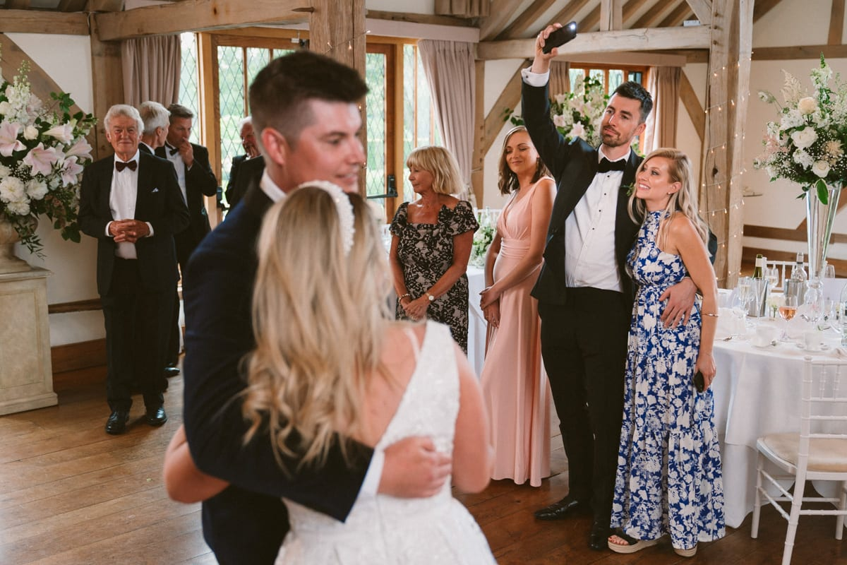 first dance as husband and wife at Cain Manor in Hampshire